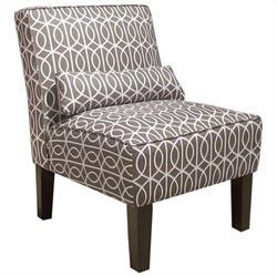 Skyline Furniture Armless Chair in Brindle