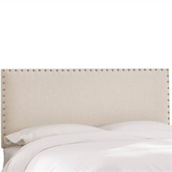 Skyline Furniture Panel Headboard in Ivory