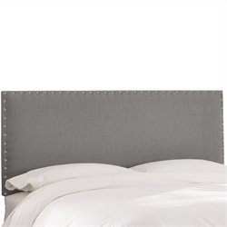 Skyline Furniture Panel Headboard in Gray