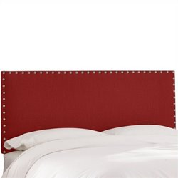 Skyline Furniture Panel Headboard in Red - California King