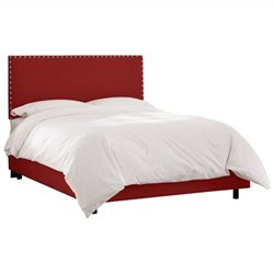 Skyline Furniture Bed in Antique Red - California King