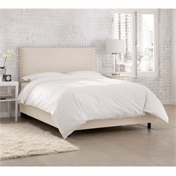 Skyline Furniture Upholstered Bed in Talc - California King