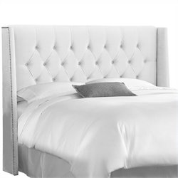 Skyline Furniture Tufted Panel Headboard in White - Full