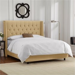 Skyline Furniture Bed in Buckwheat