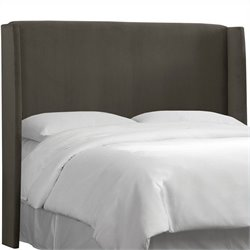 Skyline Furniture Wingback Panel Headboard in Gray