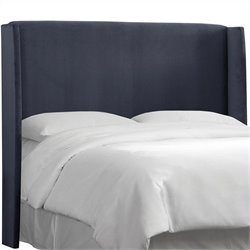 Skyline Furniture Wingback Panel Headboard in Blue