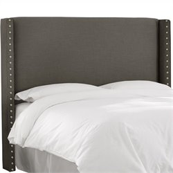 Skyline Furniture Button Headboard in Gray - California King