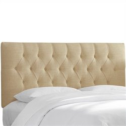 Skyline Furniture Tufted Headboard in Chocolate - California King