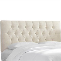 Skyline Furniture Tufted Panal Headboard in White - Twin
