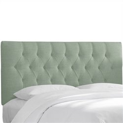 Skyline Furniture Tufted Panel Headboard in Blue - Twin