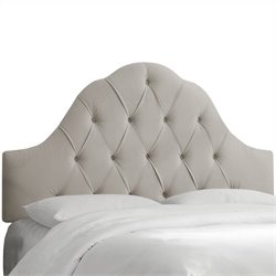 Skyline Furniture Arch Tufted Headboard in Light Gray - Twin