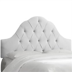 Skyline Furniture Arch Tufted Panel Headboard in White - Twin