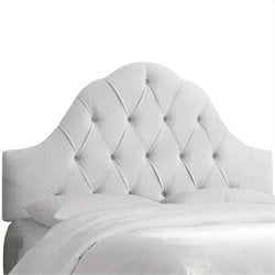 Skyline Furniture Arch Tufted Panel Headboard in White - California King