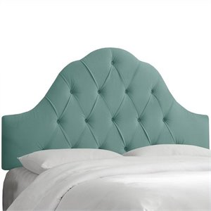 Skyline Furniture Arch Tufted Panel Headboard in Caribbean
