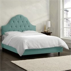 Skyline Furniture Arch Tufted Bed in Caribbean