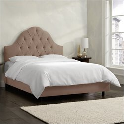 Skyline Furniture Arch Tufted Bed in Cocoa - California King