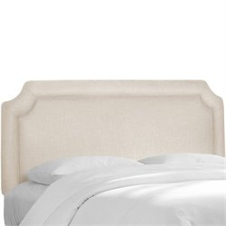Skyline Notched Panel Headboard in Ivory