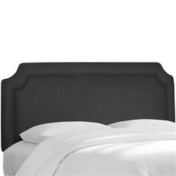 Skyline Notched Panel Headboard in Black - Twin