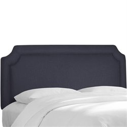 Skyline Notched Panel Headboard in Navy