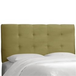 Skyline Tufted Panel Headboard in Green - Twin