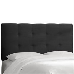 Skyline Tufted Panel Headboard in Black - Twin