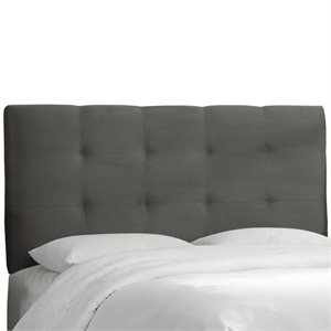 Skyline Tufted Panel Headboard in Gray