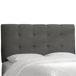 Skyline Tufted Panel Headboard in Gray - Twin