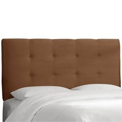 Skyline Tufted Panel Headboard in Brown