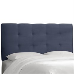 Skyline Tufted Panel Headboard in Blue - Full
