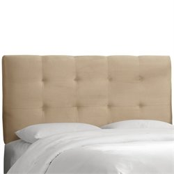 Skyline Tufted Panel Headboard in Beige  - Twin