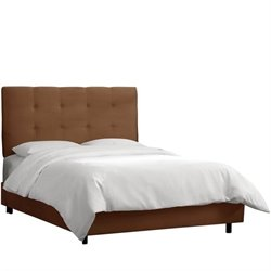 Skyline Tufted Bed in Premier Chocolate