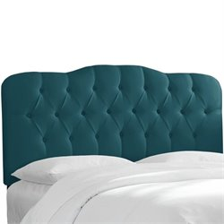Skyline Tufted Panel Headboard in Peacock - Full