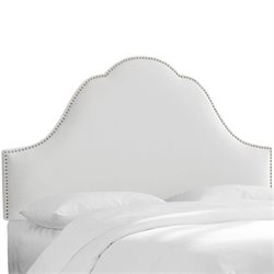Skyline Arch Panel Headboard in White - King