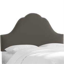 Skyline Arch Panel Headboard in Black - Twin