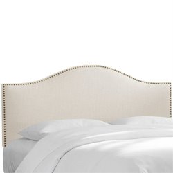 Skyline Nail Panel Headboard in Ivory - Full