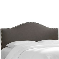 Skyline Nail Panel Headboard in Gray - Twin