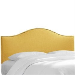 Skyline Nail Panel Headboard in Yellow - Twin
