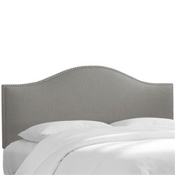 Skyline Nail Panel Headboard in Gray - Full