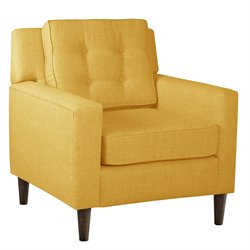 Skyline Fabric Club Arm Chair in Yellow