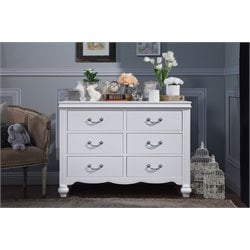 Million Dollar Baby Classic Etienne 6 Drawer Changing Table in White