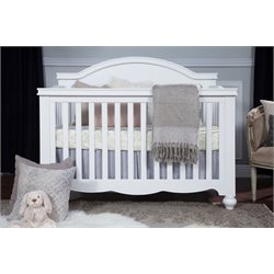 Million Dollar Baby Classic Etienne 4 in 1 Convertible Crib in White