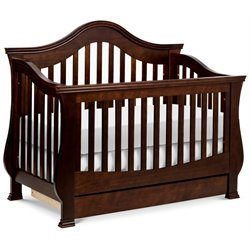 Million Dollar Baby Classic Ashbury 4-in-1 Convertible Crib with Toddler Rail in Espresso