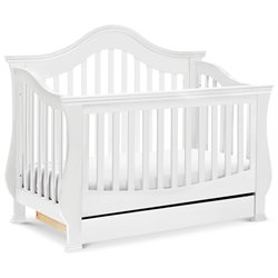 Million Dollar Baby Classic Ashbury 4-in-1 Convertible Crib with Toddler Rail in White