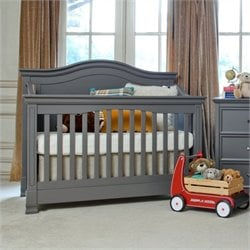 Million Dollar Baby Classic Louis 4-in-1 Convertible Crib with Toddler Rail in Manor Grey