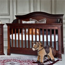Million Dollar Baby Classic Louis 4-in-1 Convertible Crib with Toddler Rail in Espresso