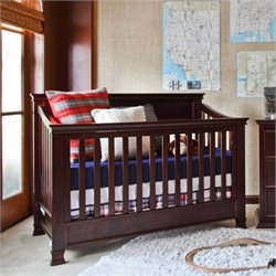 Million Dollar Baby Classic Foothill 4-in-1 Convertible Crib with Toddler Rail in Espresso