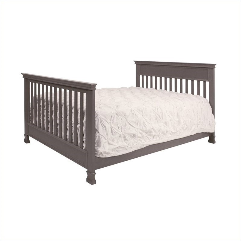 Million Dollar Baby Classic Foothill 4-in-1 Convertible Crib with Toddler Rail in Weathered Grey