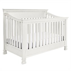 Million Dollar Baby Classic Foothill 4-in-1 Convertible Crib with Toddler Rail in Dove White