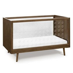 Ubabub Nifty Clear 3 in 1 Crib in Walnut