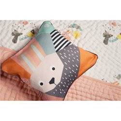 Nursery Works Menagerie Rabbit Cubist Print Toddler Pillow